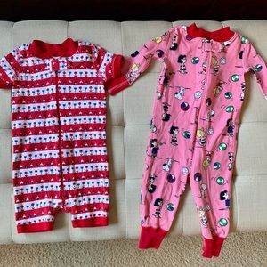 Hanna Andersson baby girl jammies - set of 2!
